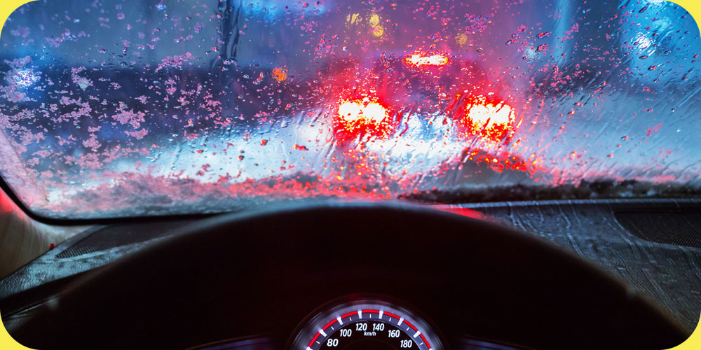 fall car care tips, driving in rain