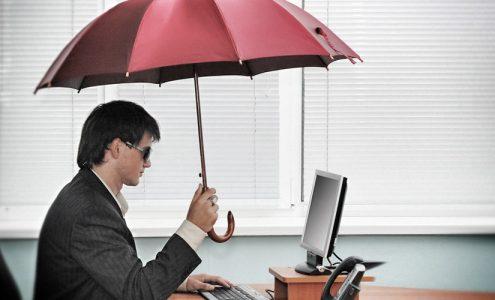 businessman at computer, get https for website security